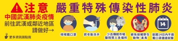 CDC中國武漢肺炎疫情